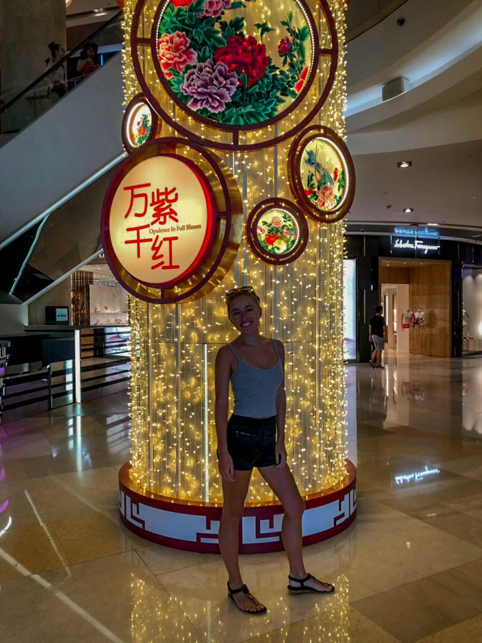 Orchard mall is one of many shopping malls that has every designer label imaginable. Victoria was in her element!