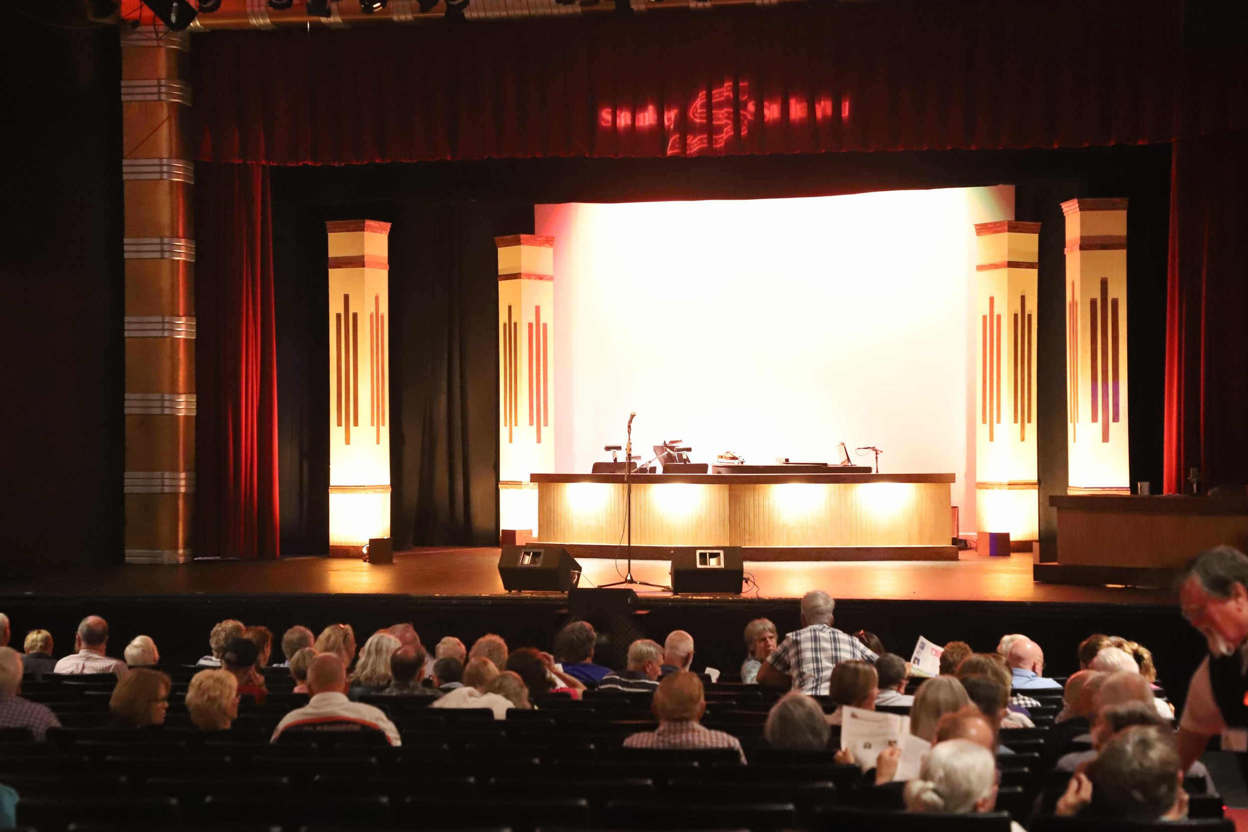 The Stanley Subaru stage - ready for the show.