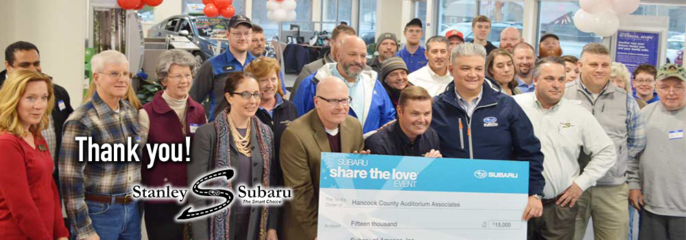 "Stanley Subaru ""shares the love"" with The Grand every year."