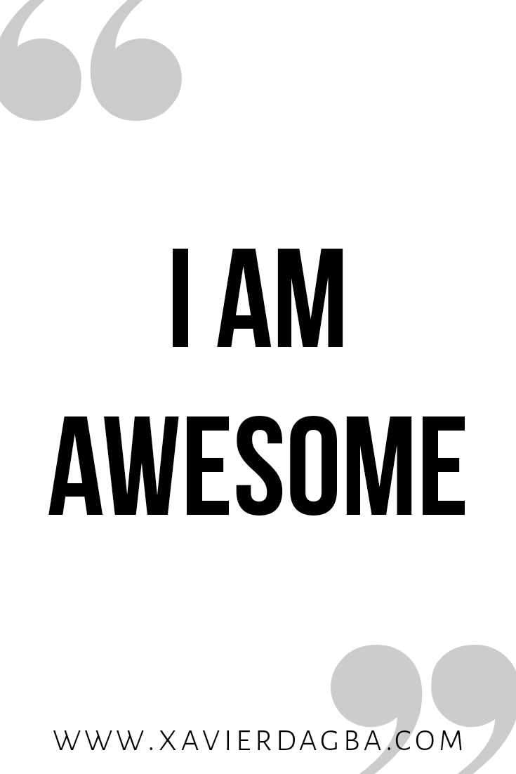 I am awesome affirmation | motivational & inspirational quote