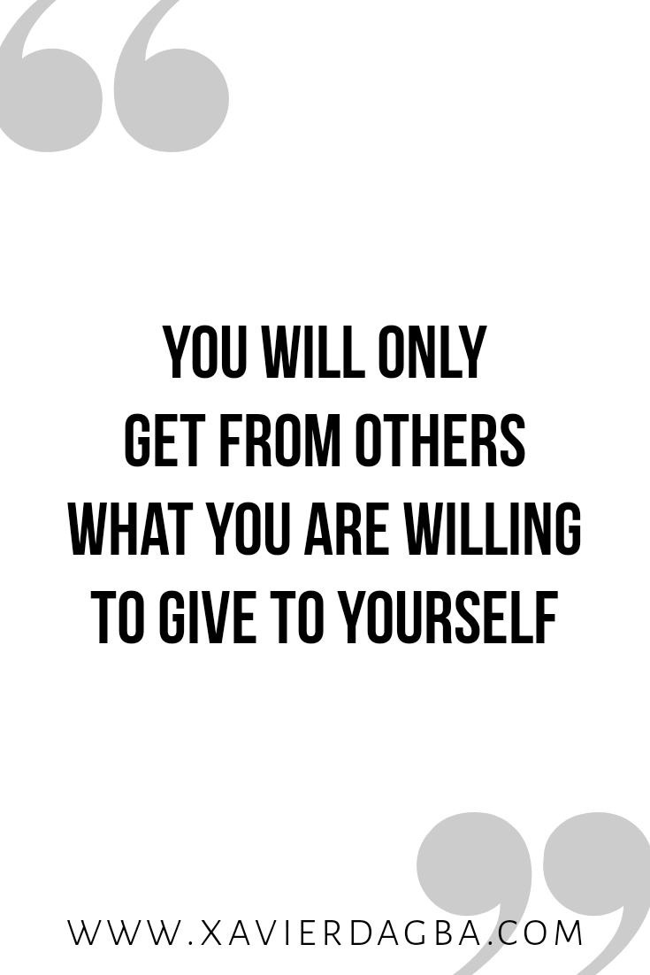 Give it to yourself first | motivational & inspirational quote