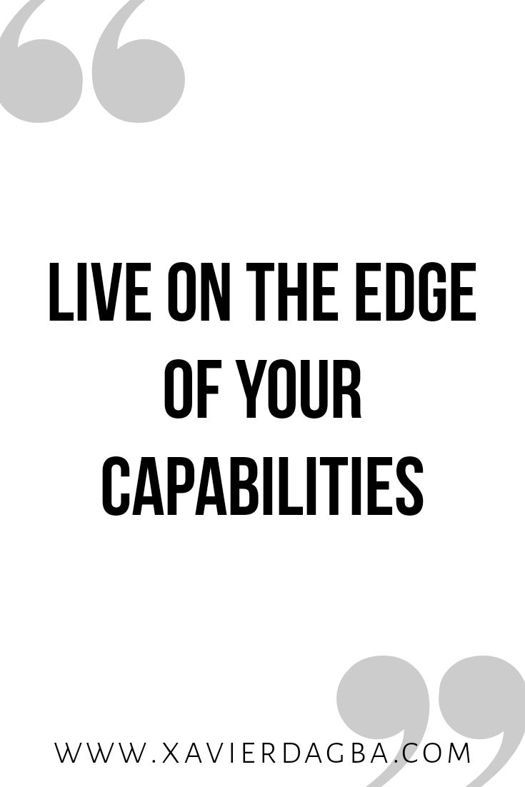 Live on the edge | motivational & inspirational quote