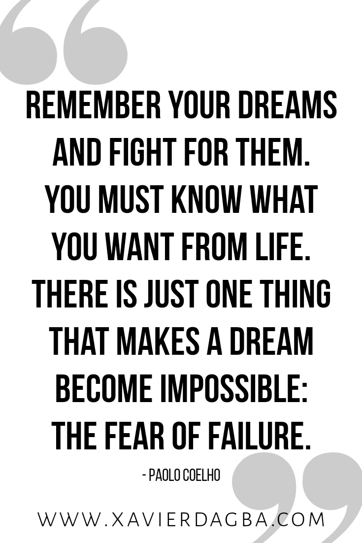 There is just one thing that makes a dream become impossible: the fear of failure, - Paolo Coelho. The energy you deploy in resisting failure, is an energy you are depleting from building success. Keep reading to find out how making peace with failure can liberate you to acheive more success. #quote #inspiration #motivation #mindset #success #successmindset #lawofattraction #blog #thriveblog