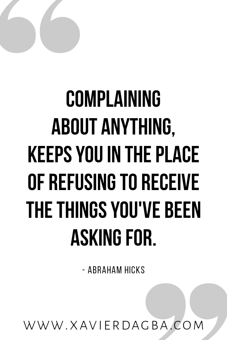 Stop complaining quote. inspiration, motivation