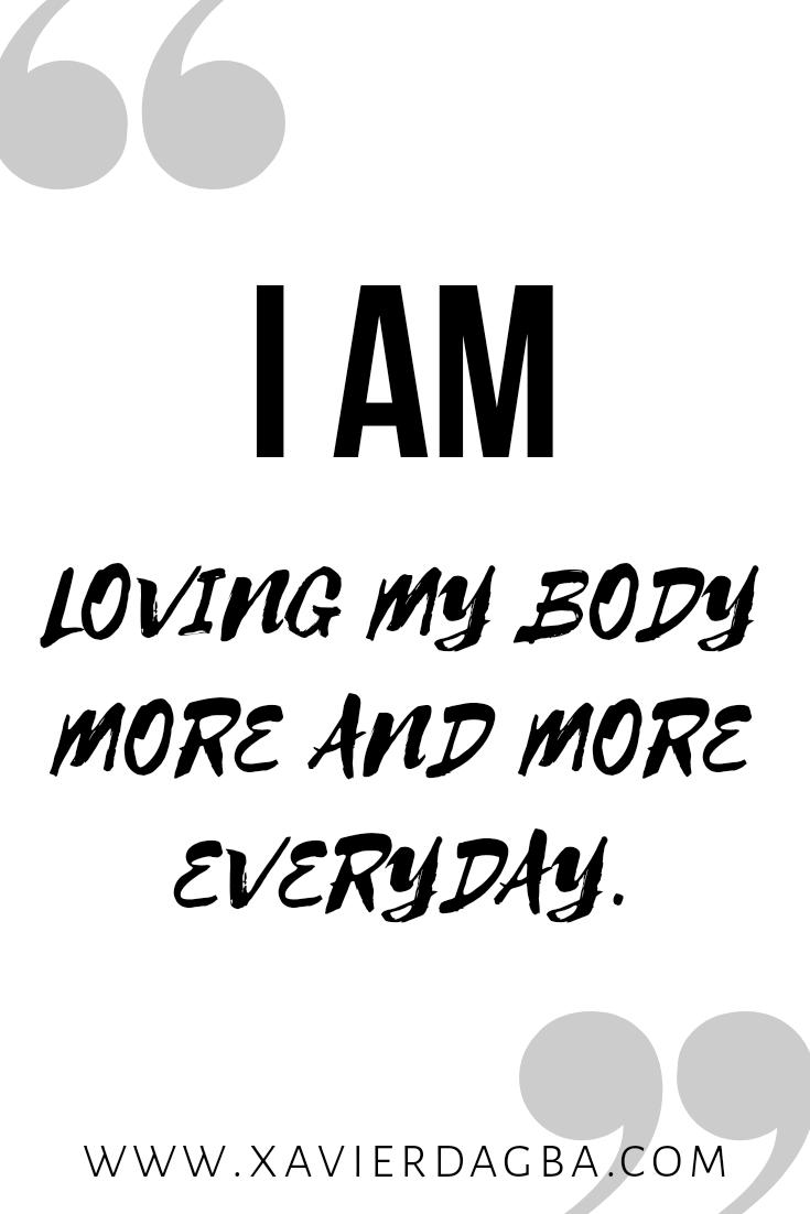 Body awareness affirmation