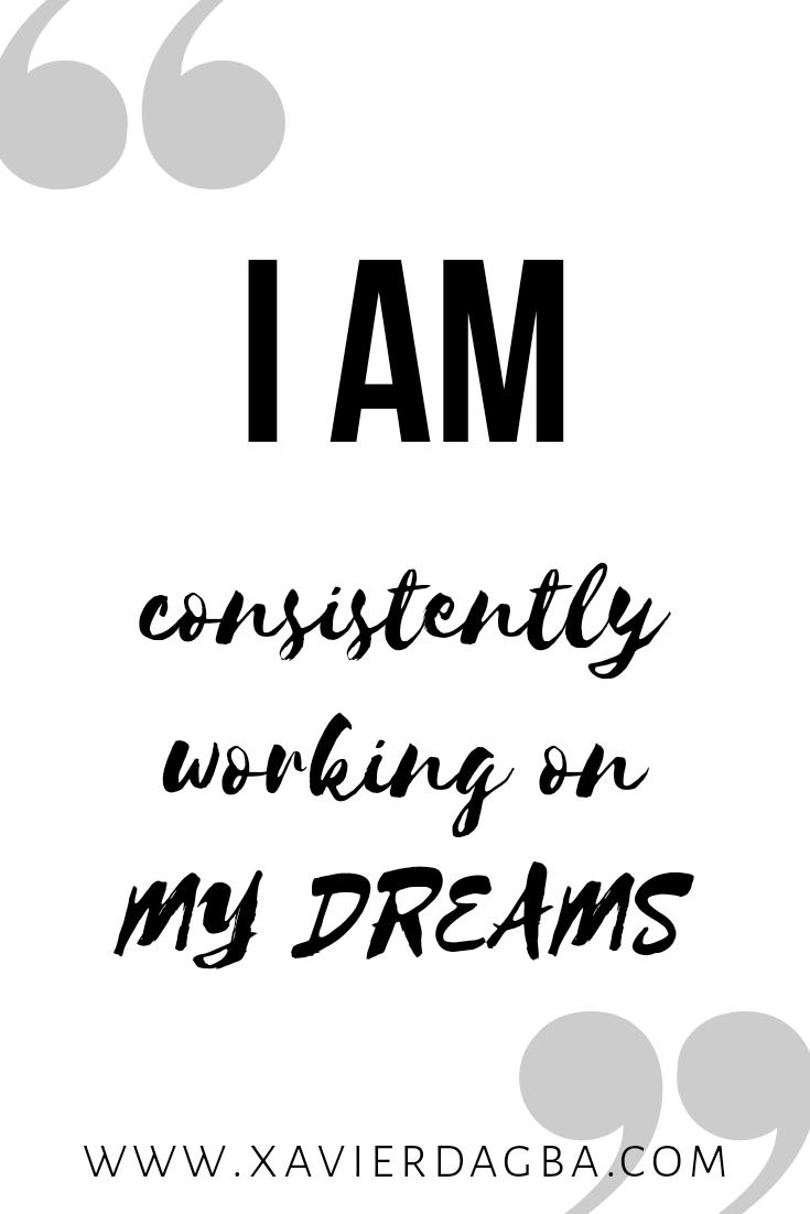 Success affirmation.