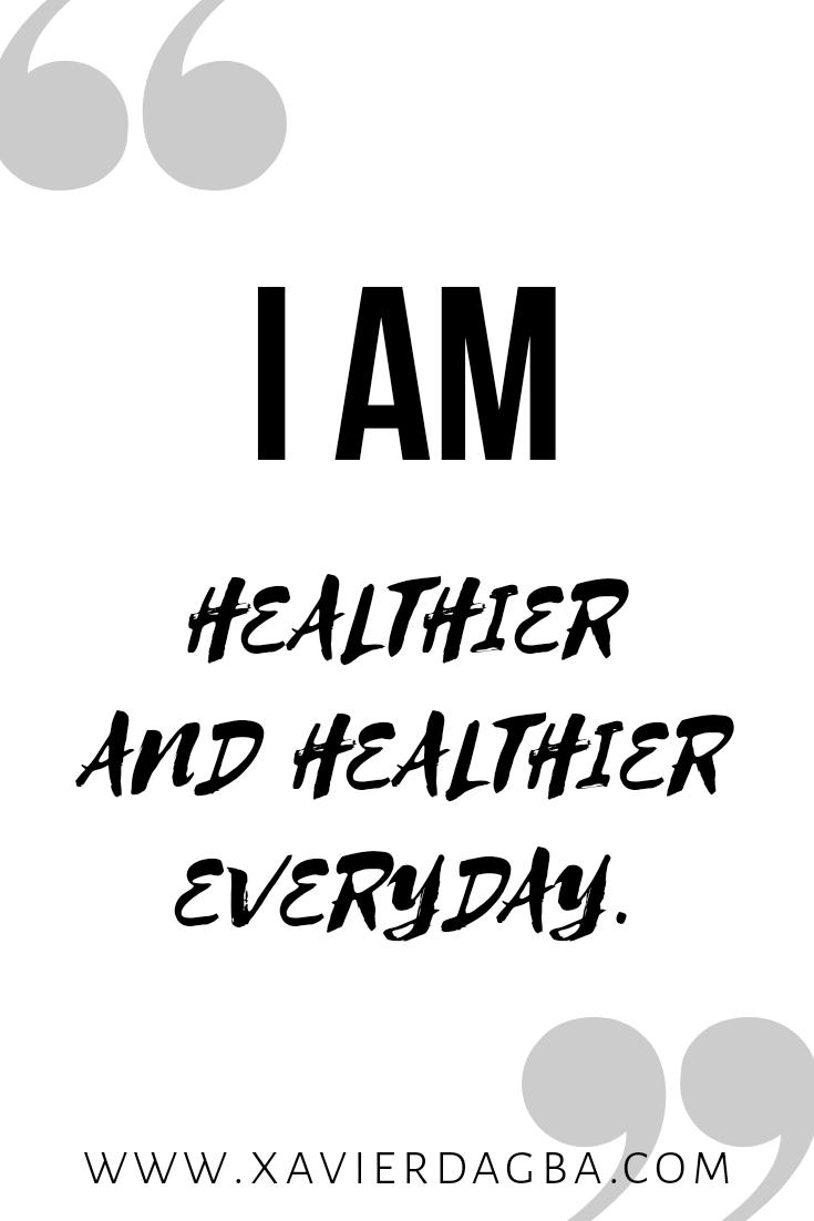 Affirmation on health