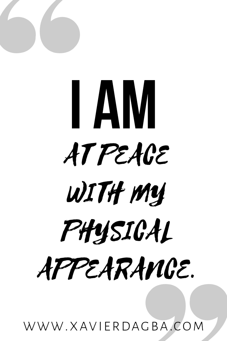 Physical appearance affirmation