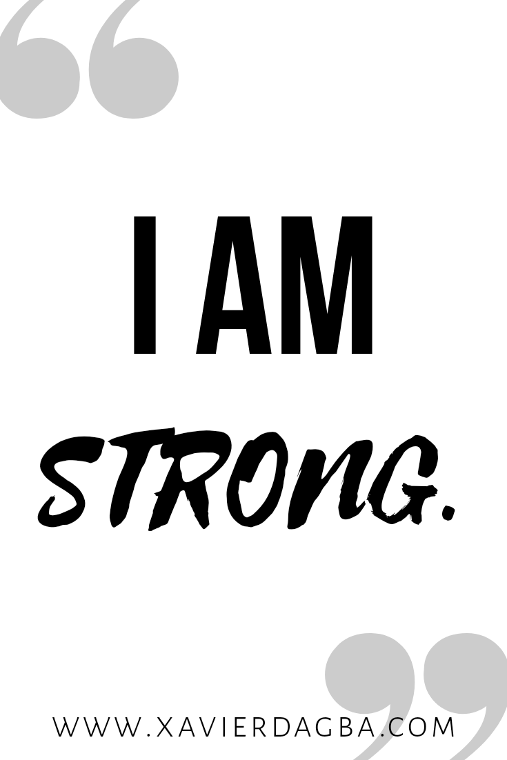 Affirmation on strength