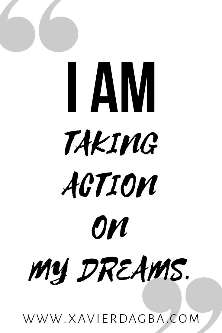 Affirmation on taking action