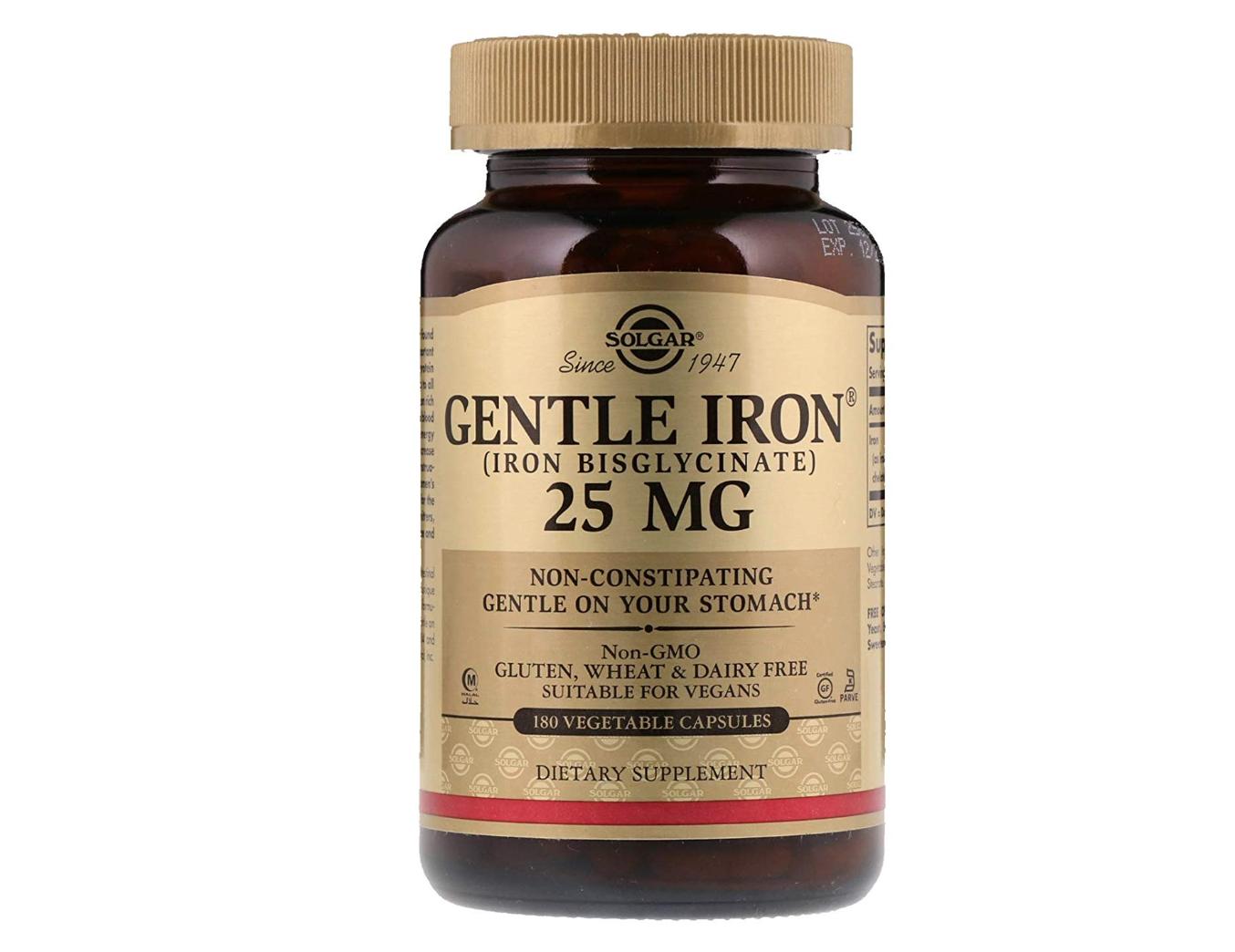 Solgar Gentle Iron  - Best Iron Supplements During Pregnancy