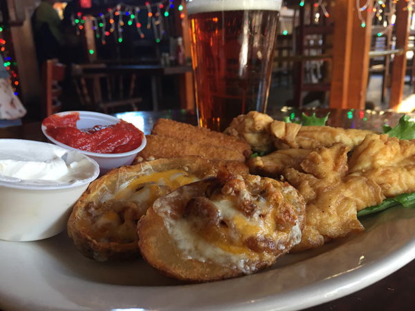 BARON'S SAMPLER  Your choice of 3 of following: Buffalo or Regular Chicken Tenders (3) Cheese Sticks (3) Spring Rolls (3) Jalapeño Poppers (3) Potato Skins (2) or Fries
