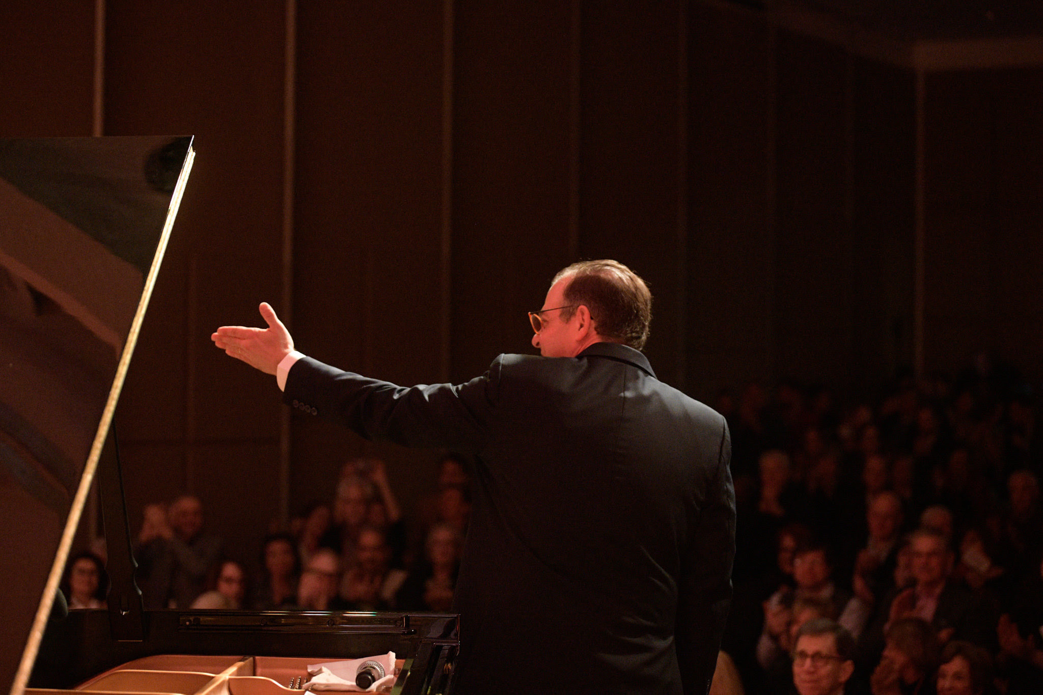 "Bill Charlap, onstage during his stellar trio performance of Leonard Bernstein interpretations during our opening night performance at the Atlanta History Center. As NEA Jazz Master Jimmy Heath, who we're honored was in attendance that evening, told AJMF director Joe Alterman after the concert, ""It's hard to believe that only three people made that much music."""
