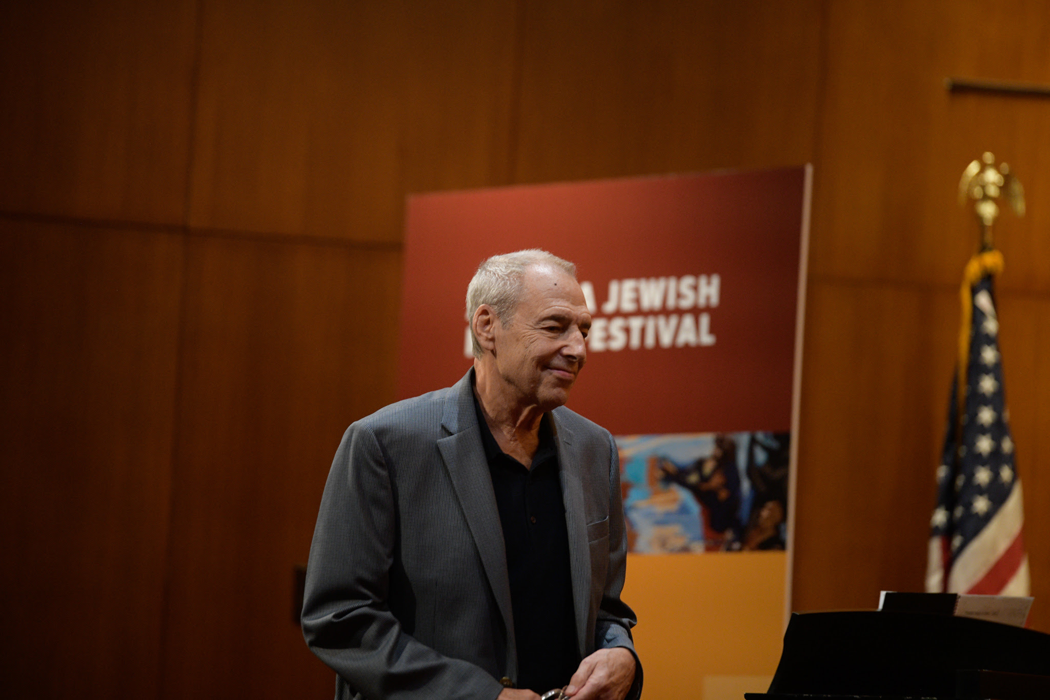 "Through his fascinating history of Jewish involvement in American popular music at Ahavath Achim Synagogue, Ben Sidran explored what is both uniquely Jewish and uniquely American about ""Jewish music"". In looking at ""Take Me Out To The Ballgame"", which was composed by Judy Garland's uncle after reading an article about the game in a New York Yiddish newspaper, Sidran, through his examination of the lyrics - ""I don't care if I never get back"" - showed us how ""baseball"", in this song - which is really a song looking for community - is actually a metaphor for America and wanting to belong to it."