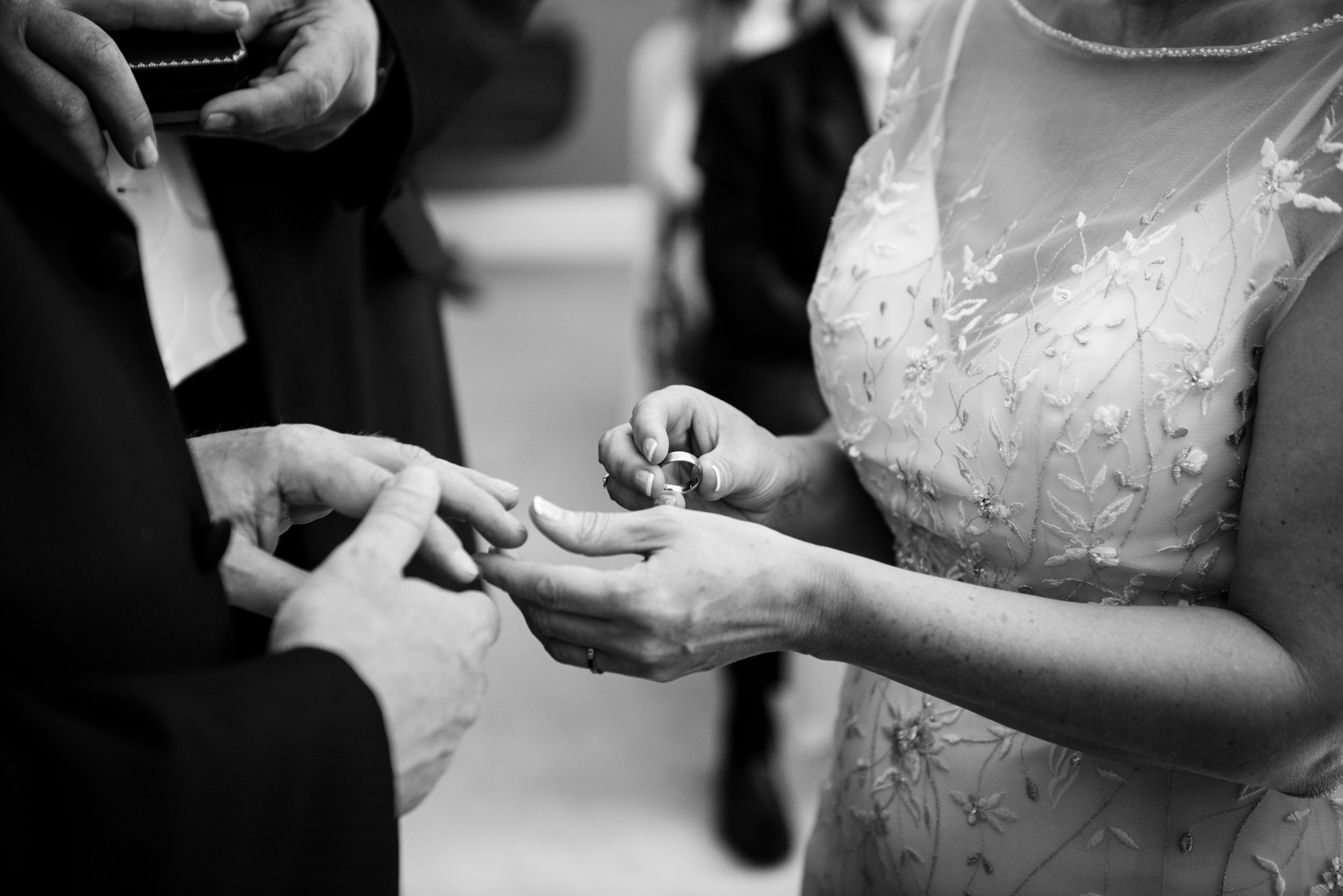 Exchange of rings during a Wedding ceremony