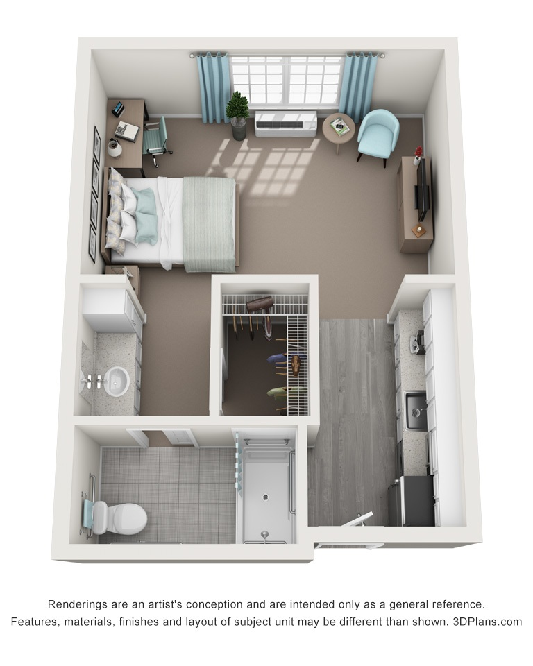 The Springs_Floorplans_Studio Delux 484 Sqft
