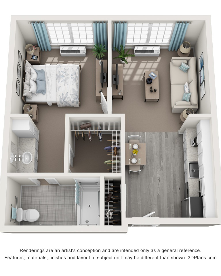 The Springs_Floorplans_one bedroom 530 Sqft