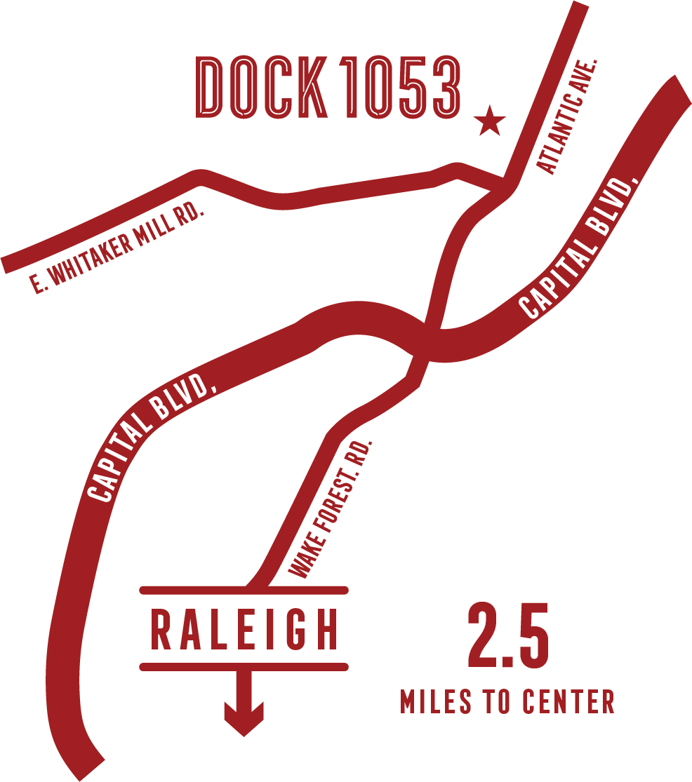 Join us at Dock 1053 - Located at the doorstep of Raleigh's Five Points, Person Street, and Mordecai neighborhoods, this is a place where locals and visitors alike can enjoy new experiences in an old way.