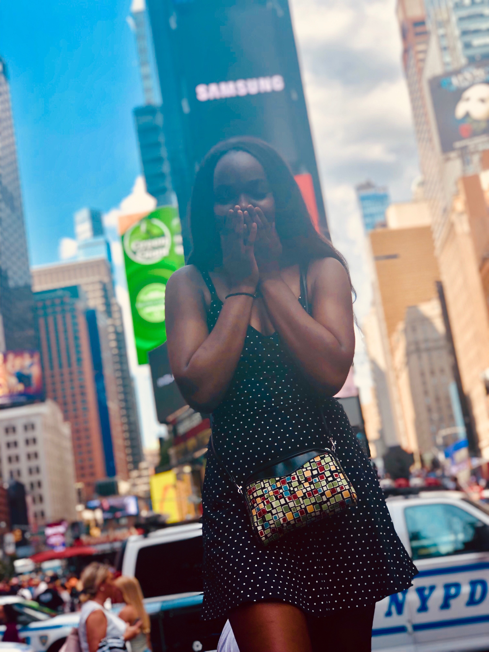 - Me celebrating my victory in Times Square, New York ✨