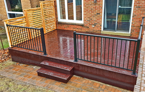 Composite/PVC Decks - Composite or PVC decking requires none of the maintenance that wood decking does. It resists staining, fading, scratching, rot, and will stay looking great for the life of your deck.