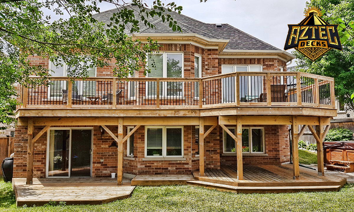 Oshawa large deck deckorators railing trex rainescape waterproofing by aztec decks.jpg