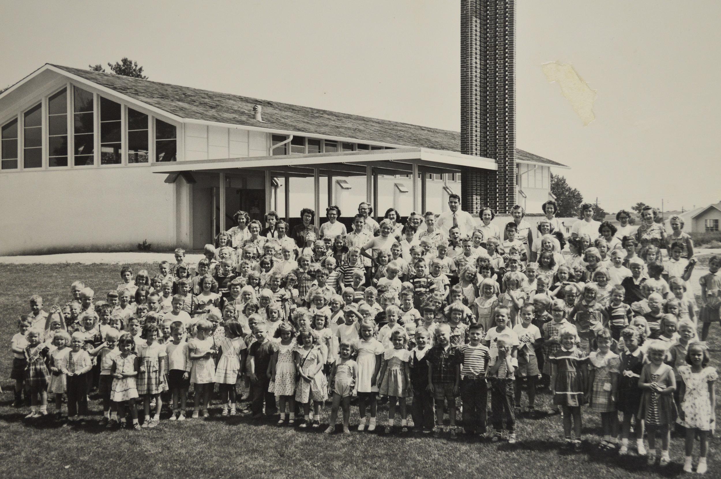 The first Sunday School, 1953.