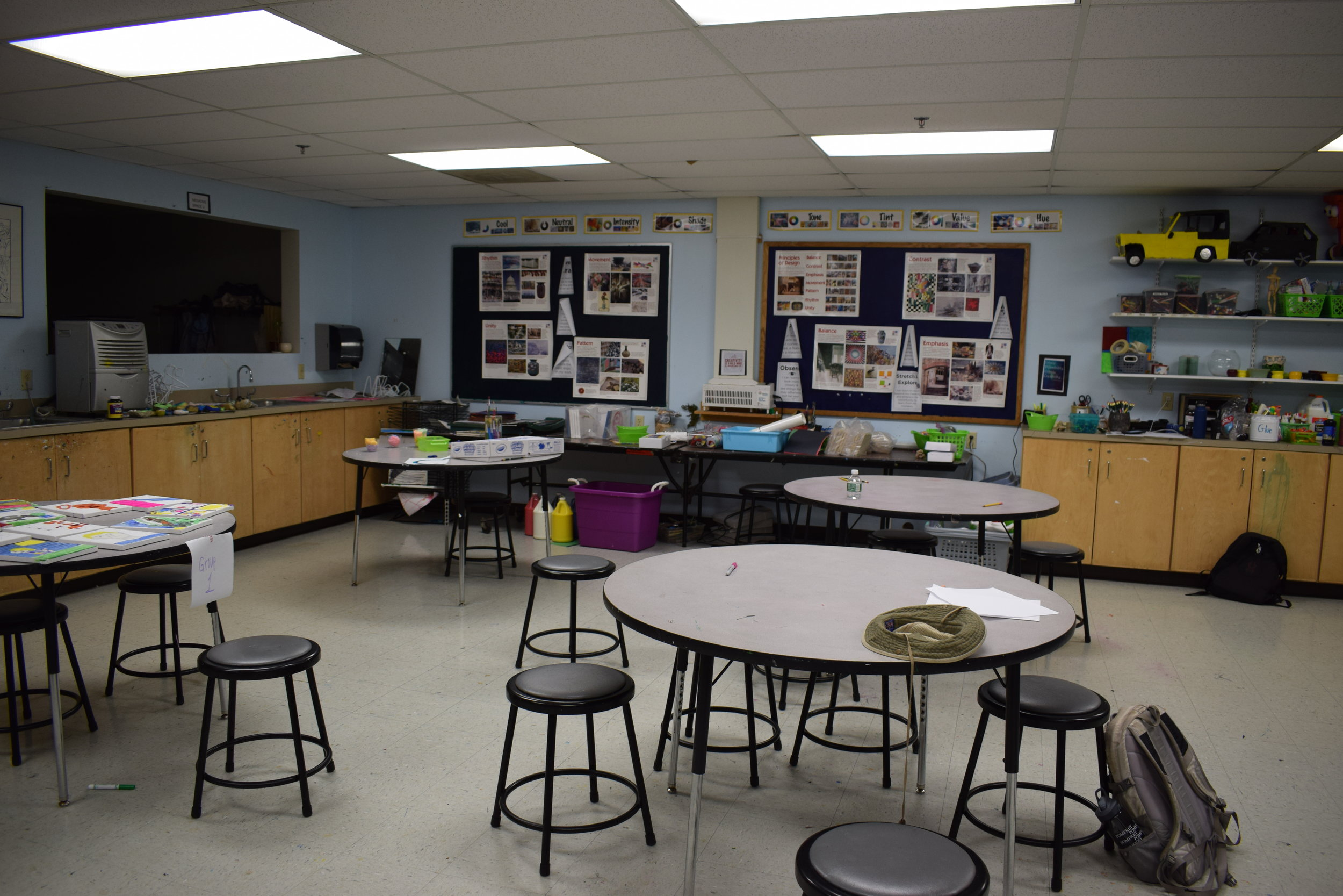 Rabideau Art Room at Applewild School