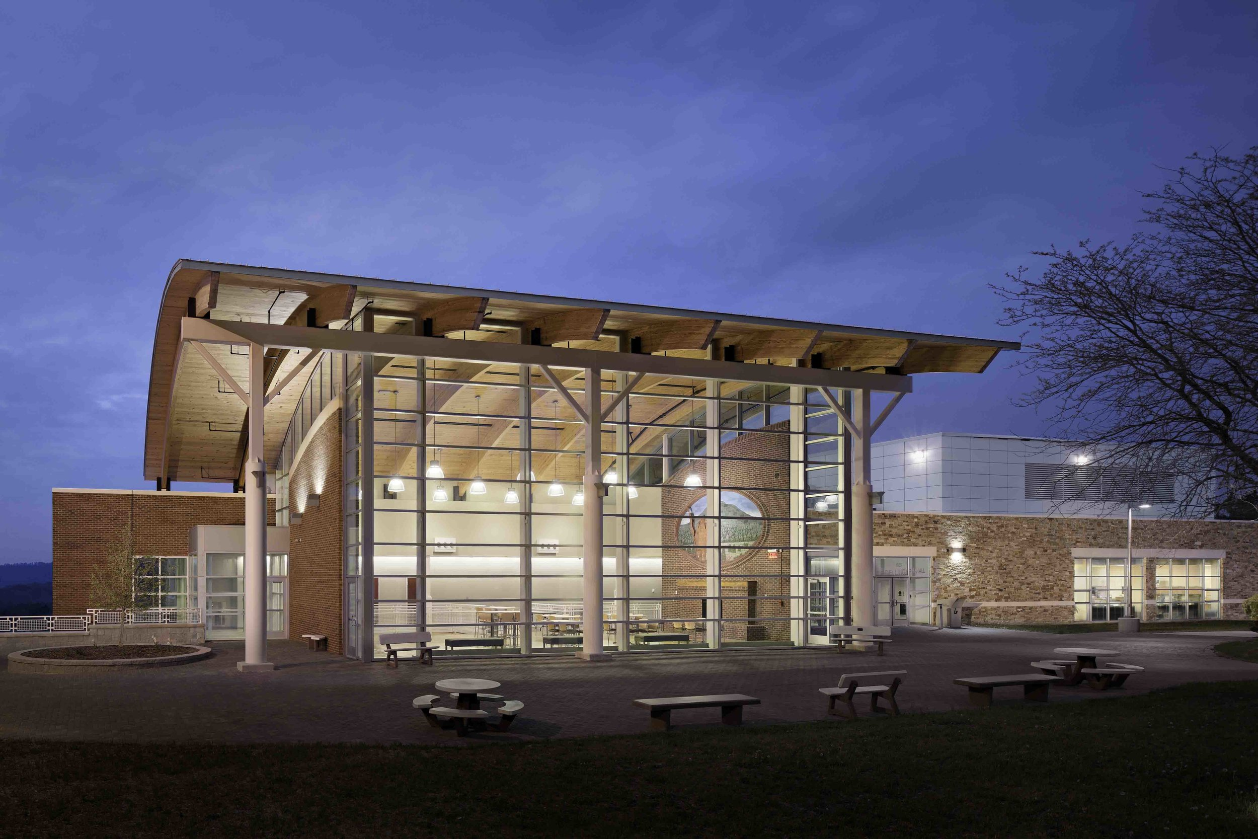 Southwest Virginia Community College Library and Distance Learning Center  Designed by The Lukmire Partnership, Inc. William E Evans, AIA, Principal Designer