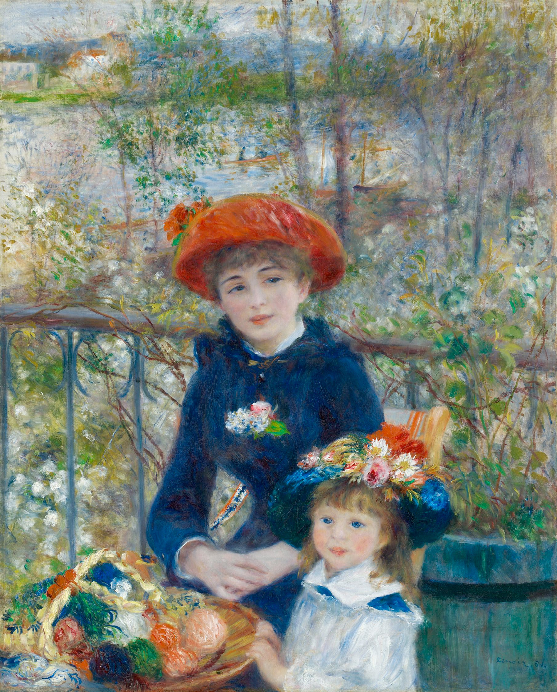 Pierre-Auguste Renoir The Two Sisters on the Terrace 1881 Art Institute of Chicago