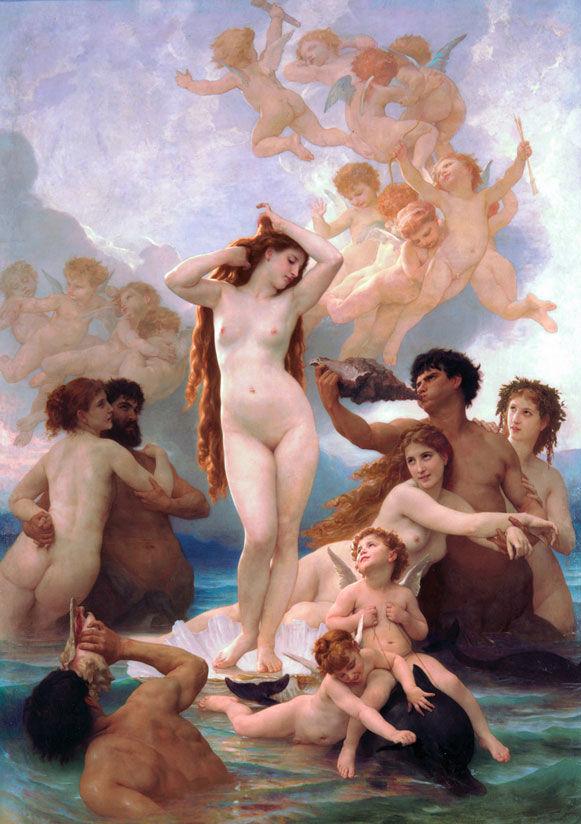 Adophe Bourguereau Birth of Venus .1879