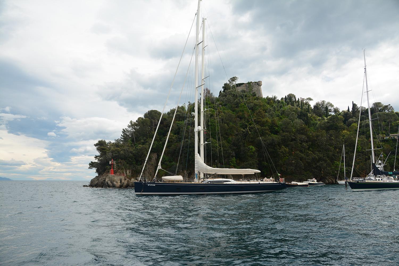 Boats at anchor in Portofino