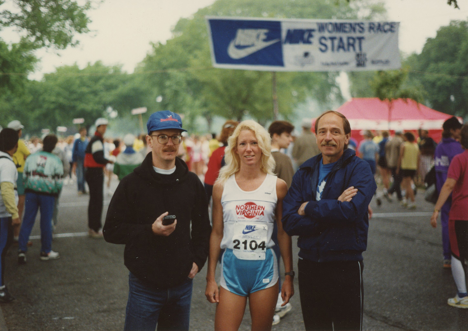 Frank couldn't have kept up with Win, though few others could either. If she was within a 100 yards of you at the finish you were done for. That's Doug on the right and Steve on the left. CA 1990.