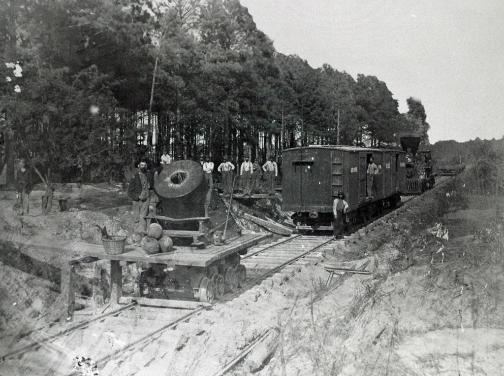 On the rail line from Danville, VA. Hal Jespersen. Taken from collection at US Army Military History Institute.