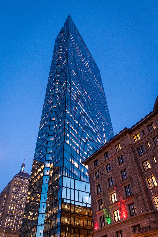 John Hancock Tower, Blue Hour  2013, photo by  Tim Sackton