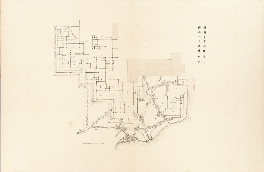 Plan of Katsura Villa from the second of Kawakami folios released in July, 1928.