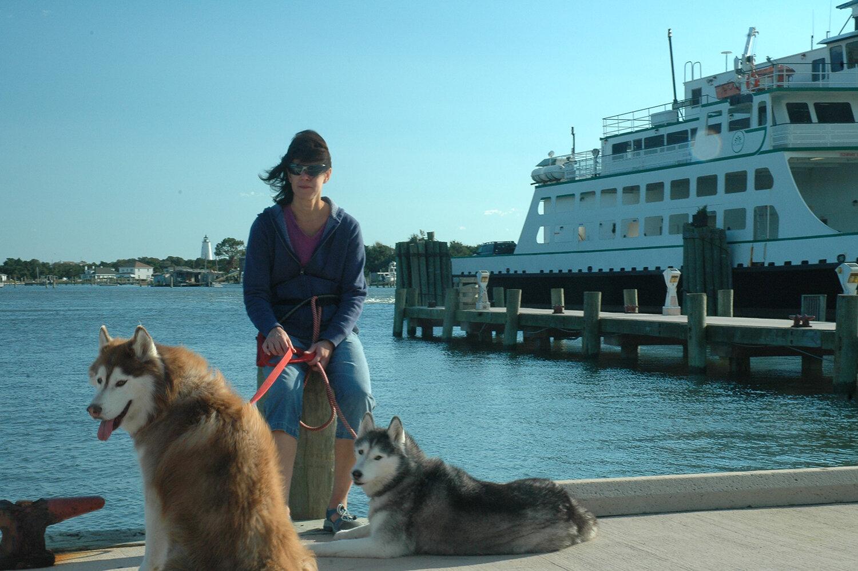 Waiting on the Cedar Island Ferry leaving Ocracoke