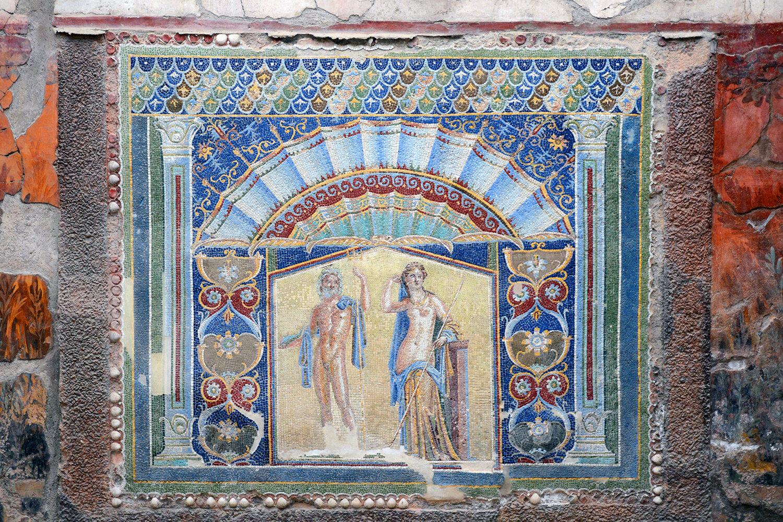 Neptune and Amphitrite - mosaic from Herculaneum