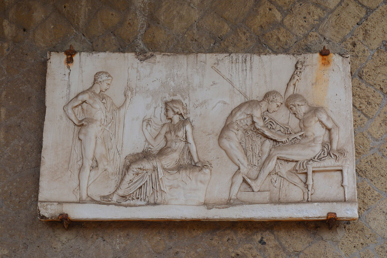 Bas-relief plaque in '   House of Telefus Relief   '