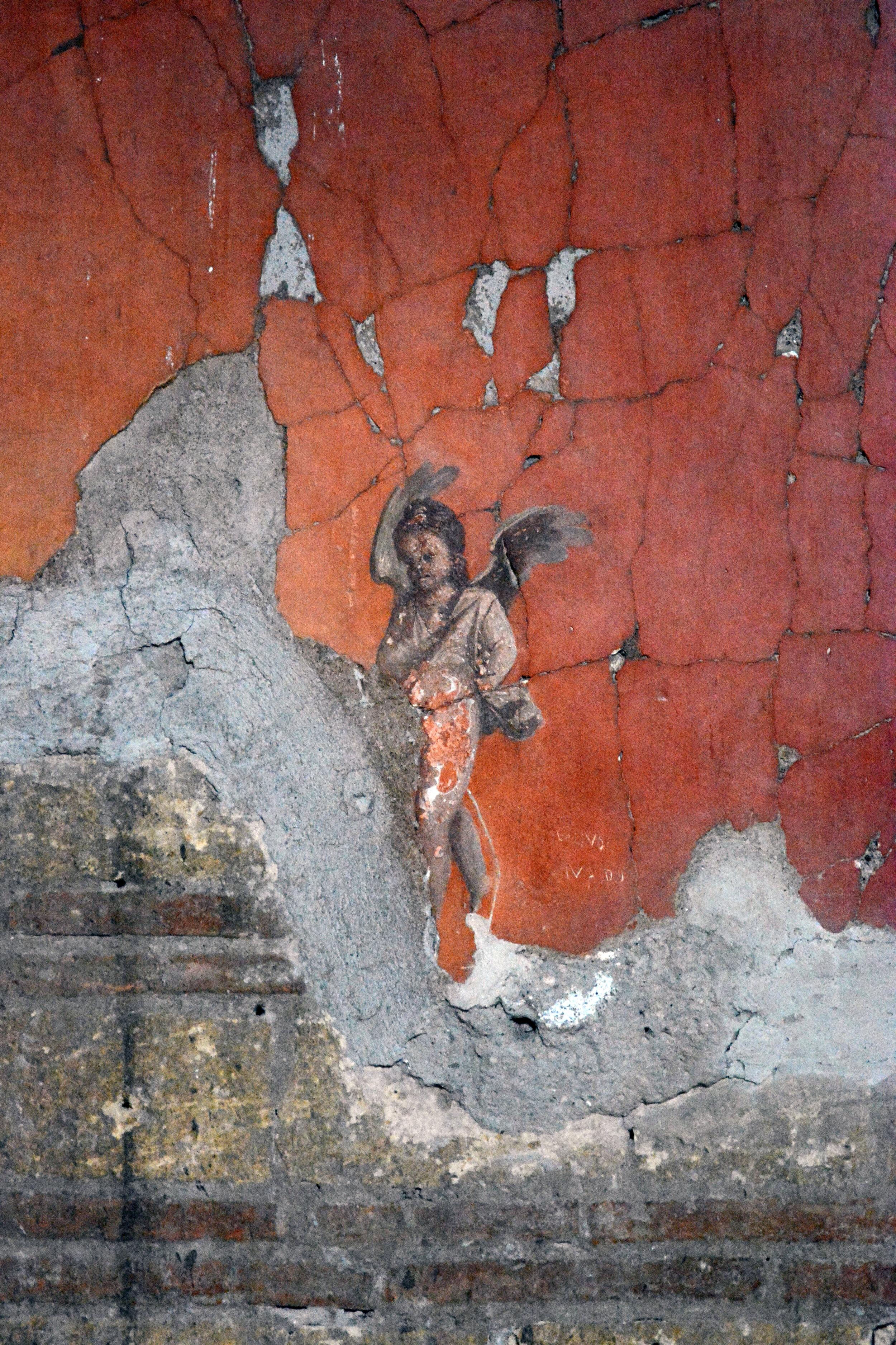 Fresco detail of Cupid