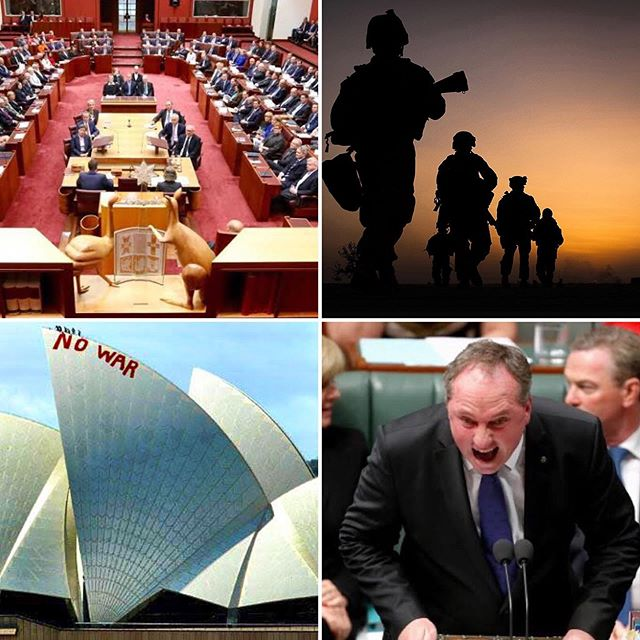 . - PARLIAMENTARY REFORM - . Parliament is a rabble. Yes ? If our kids behaved at school like our leaders carry on in federal parliament they would all be given detention. You know what we mean: the shouting at each other, the evasion of questions, the deliberate misrepresentation of what used to be known as The Facts. . The way Australia makes big decisions needs an overhaul. For example, a clear majority of both houses of parliament should be required for really significant issues like ... GOING TO WAR !!! Prime Ministers and cabinets should not be able to decide to go to war all by themselves. War is not about the Prime Minister. Or even the cabinet. War is about all of US. A proper debate and a real decision supported by most of our elected representatives is called for. The current arrangement are almost designed to allow Australia to be used by our distant allies to fight in wars that suit them but are actually of no real use to us. . For consistency, this 'super-majority' as the boffins call it, should also be required for all the big calls we make as a nation .. like whether to set up a new AFL team in Tasmania or when choosing a contestant for the Eurovision Song Contest.  To be clear: if you need the support of both houses of Parliament to overturn a dumb sales tax on tampons, putting our troops in harm's way should require a majority vote from all elected representatives we reckon. . What are your ideas in regards to Parliamentary reform? . . . #auspol #auspolitics #parliamentaryreform #parliament #australianpolitics #reform #election #ausvotes2019 #ausvotes #senate #grownupsgovote #peoplepower #voteforchange #nowar #antiwar #lestweforget