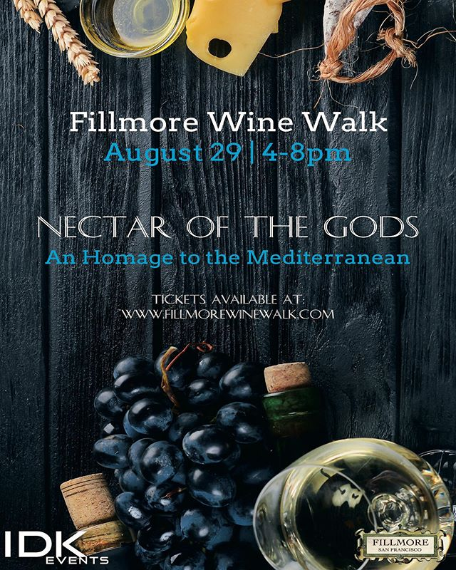 The summer wine tour continues with our next stop, the very special Fillmore Wine Walk. Taste the Mediterranean with some great wines from the region. Purchase your tickets now on Fillmorewinewalk.com 🤗🍷
