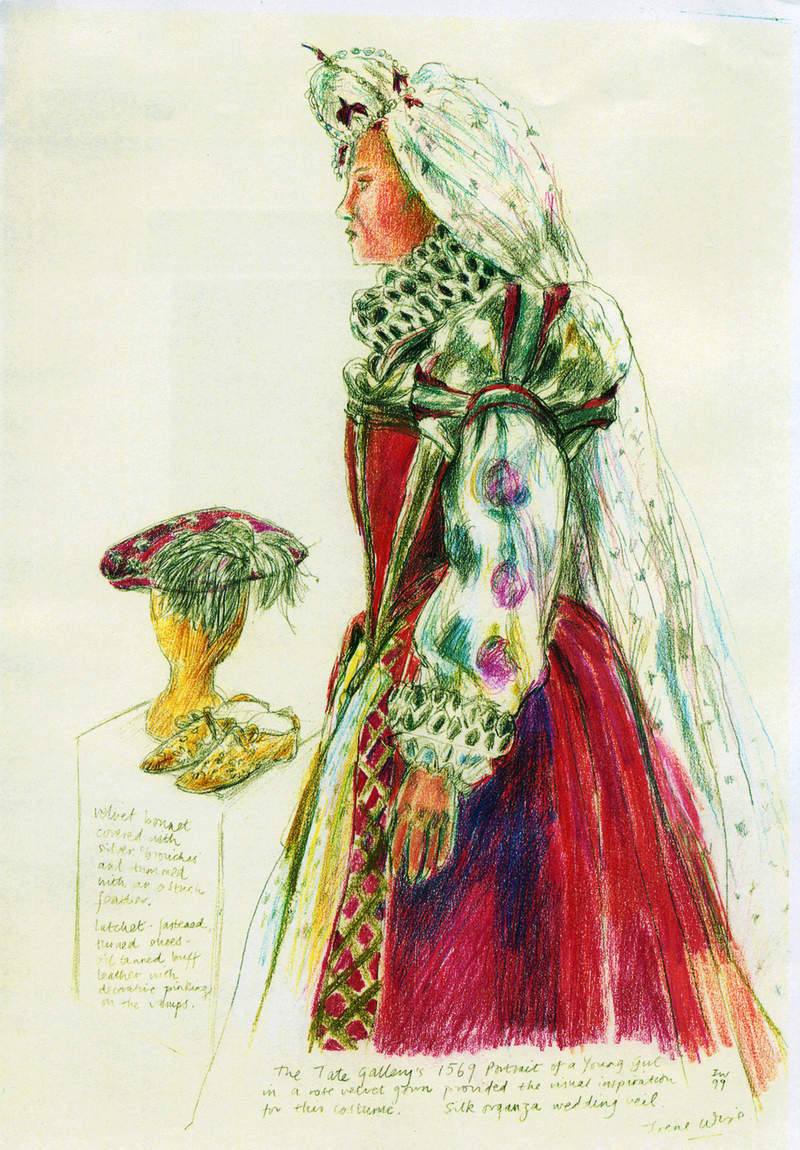 Renaissance Costume at V&A Museum (crayon) ©irenejuliawise