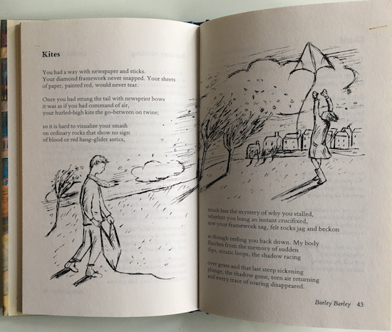 Kites, poem by Barrie Wade in Barley Barley (Oxford University Press) ©irenejuliawise
