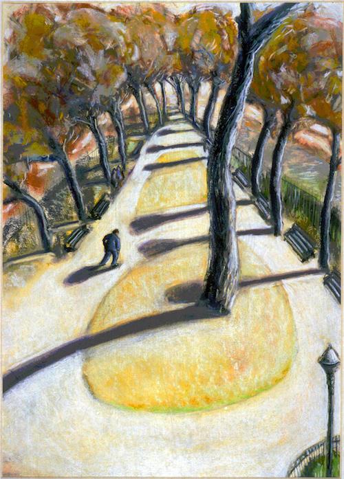 Paris Gardens (pastels) ©irenejuliawise