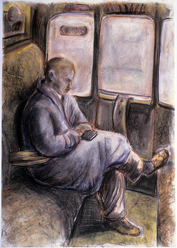 Train Journey (pastels) ©irenejuliawise