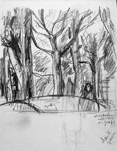 Trees (pencil sketch) ©irenejuliawise