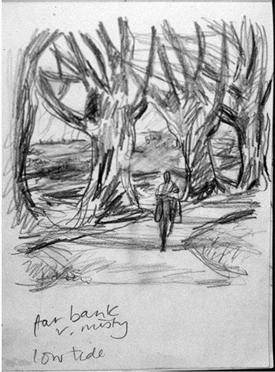 Riverside Sketch (pencil) ©irenejuliawise