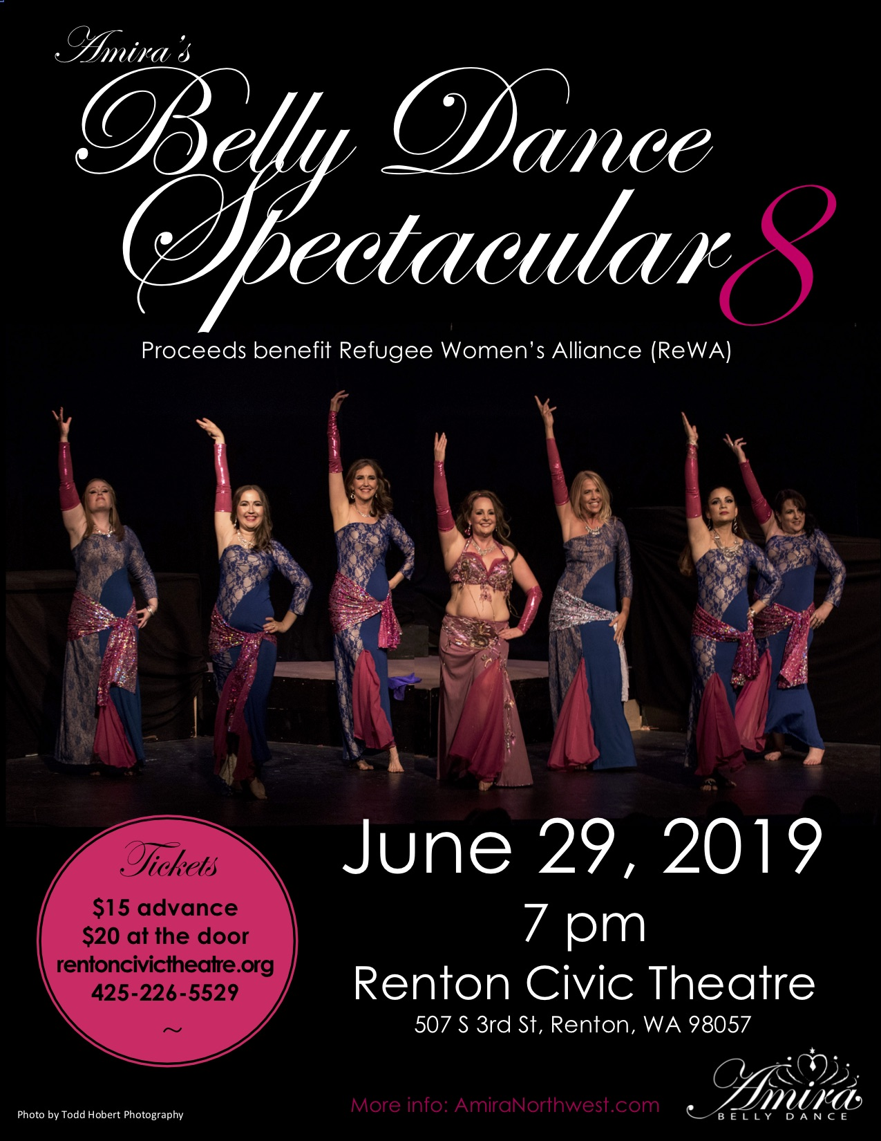 Belly Dance Spectacular 8 - Thank you to everyone who danced in the show and who supported us!  We raised over $1,600 for Refugee Women's Alliance!  Much love to all.