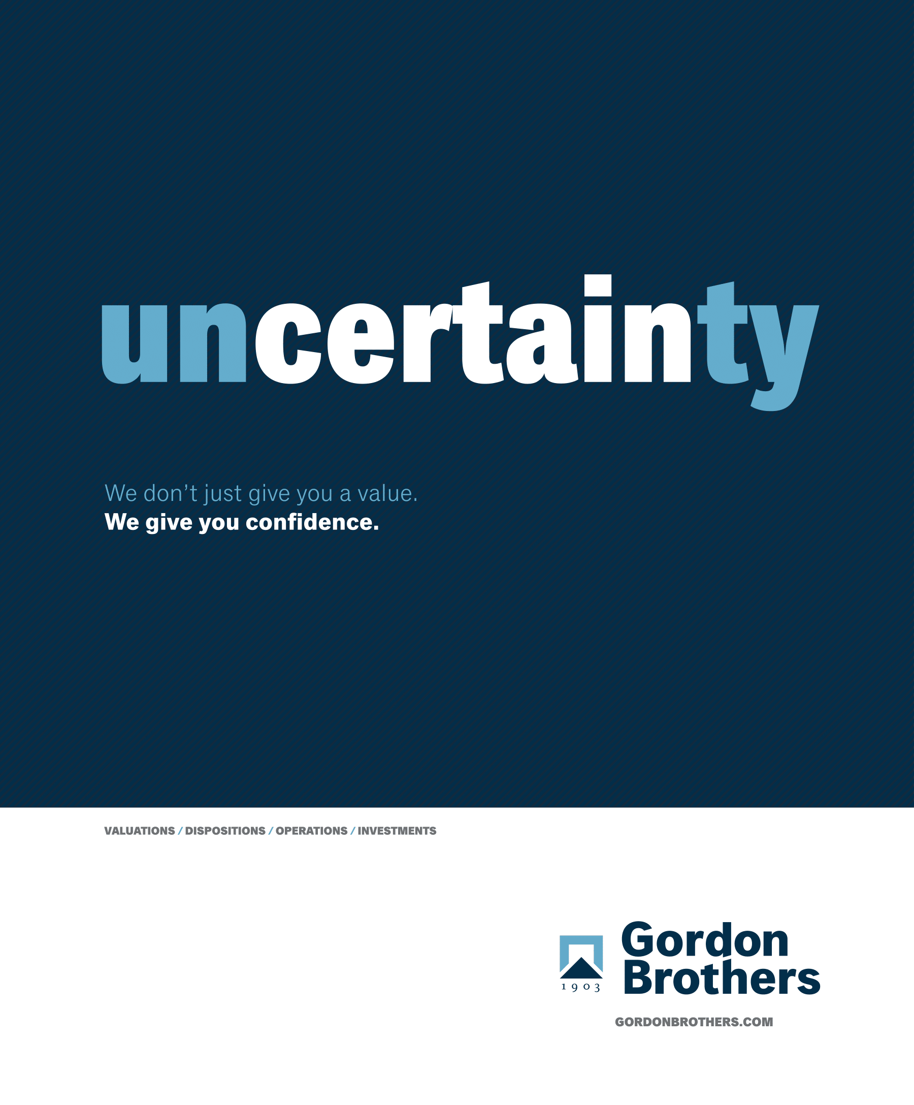 gordon brothers - uncertain ad