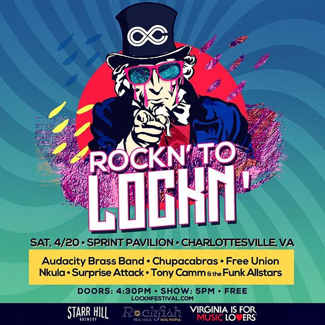 It's the Final Showdown 🔥💯 @chupacabrasmusic #rockntolockn in Charlottesville @sprintpavilion 4/20...FREE show & your VOTES COUNT 🗳🏆 Winners perform @locknfestival 2019!! #Chupacabras will be sharing the stage w/ some amazing talent so mark your calendars for this one 👏👏👏